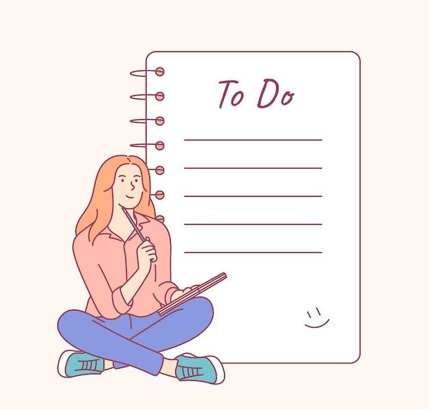 할 일 목록 및 계획 체크리스트.