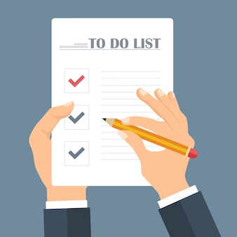 To-do list concept