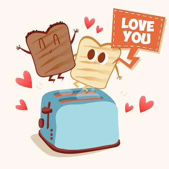 Toast background design