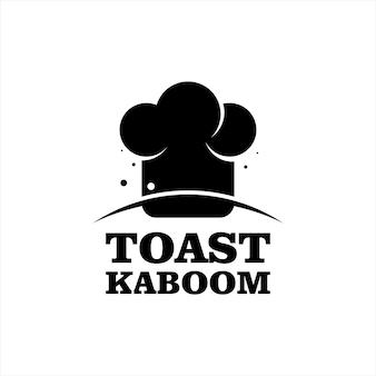 トーストイラストパンと朝食バッジテンプレート