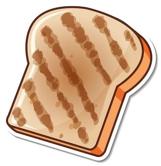 トーストしたパンのスライスの漫画のステッカー