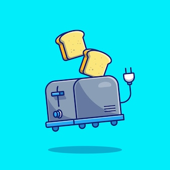 Toaster and bread. food technology