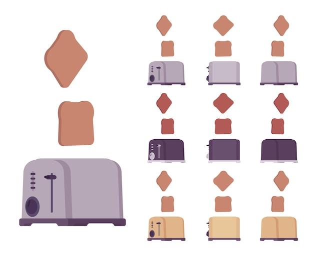 Toaster set, kitchen equipment