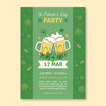 Toasting beer st. patrick's day poster