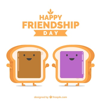 Toasts background of friendship day