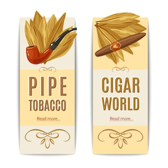 Tobacco banners set