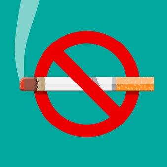 Tobacco cigarette abuse concept