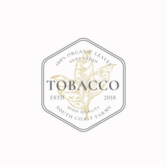 タバコの葉の抽象的な記号のシンボルまたはロゴのテンプレート