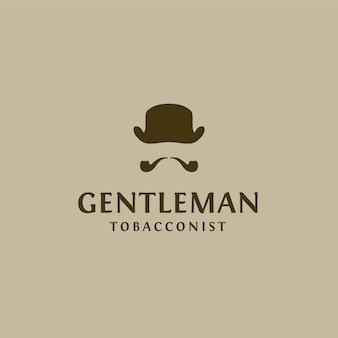 Tobacco logo with gentelman design