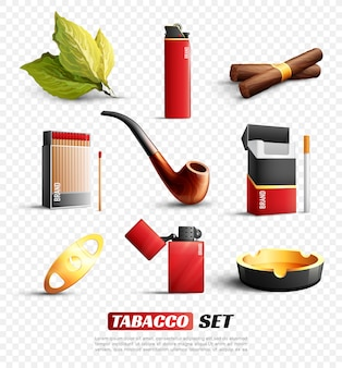 Tobacco products set