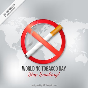 Не всемирный день нет tocacco с сигаретой на фоне карты