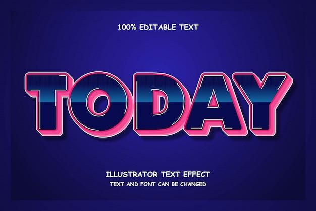 Сегодня, 3-й редактируемый текстовый эффект в современном стиле комиксов