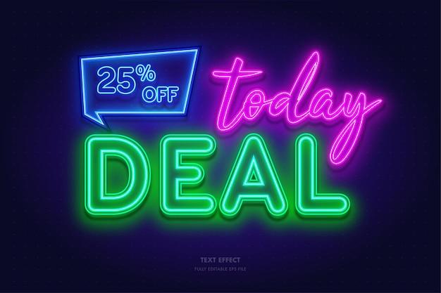 Today deal discount neon glow effect