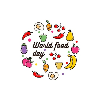 Today eat world with a variety of fruits and vegetables