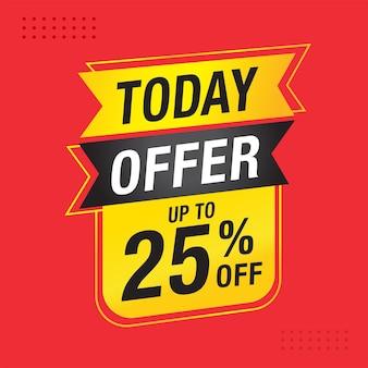 Today offer sale banner vector design