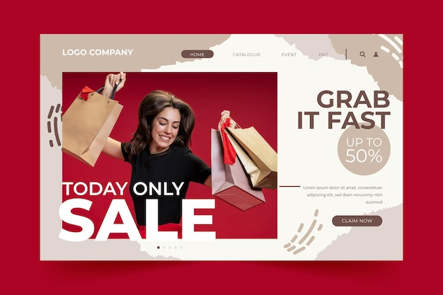 Today only sale fashion landing page