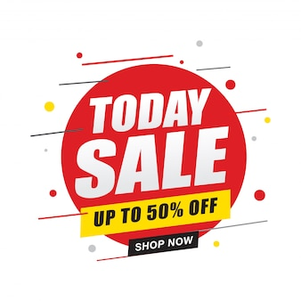 Today sale banner, shop now