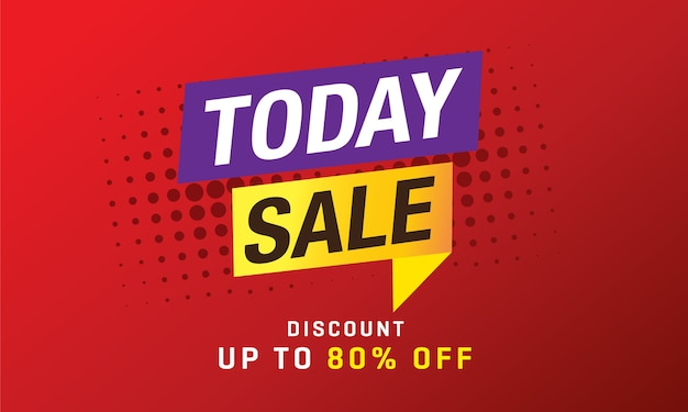 Today sale banner template
