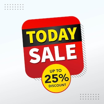 Today sale banner vector template design