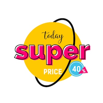 Today super price lettering on round tag