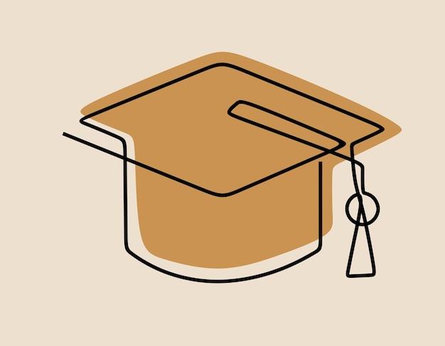 トーガハット教育ワンライン連続線画
