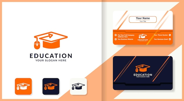 Toga hat mouse logo and business card design
