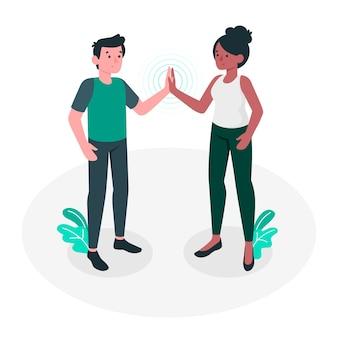 Together concept illustration
