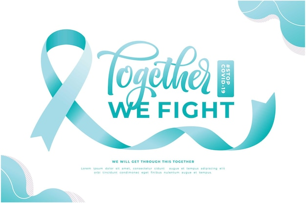 Together we fight awareness campaign banner template