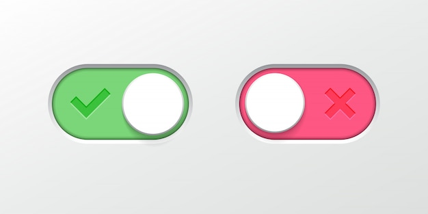 Toggle button switch slider  web ui icons