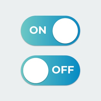Toggle switch button on or off