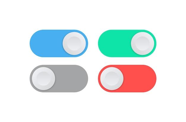 토글 스위치 버튼 켜기 및 끄기 아이콘