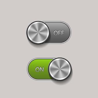 オンとオフの位置でスイッチを切り替えます