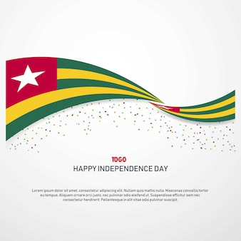 Togo happy independence day background