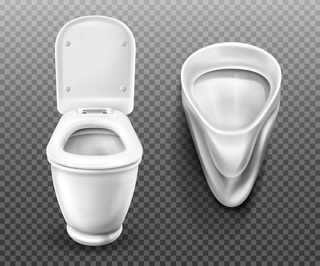 バスルーム、トイレ用便器と小便器