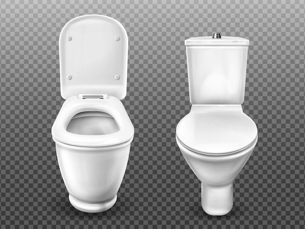 Toilet bowl for bathroom, restroom, modern wc