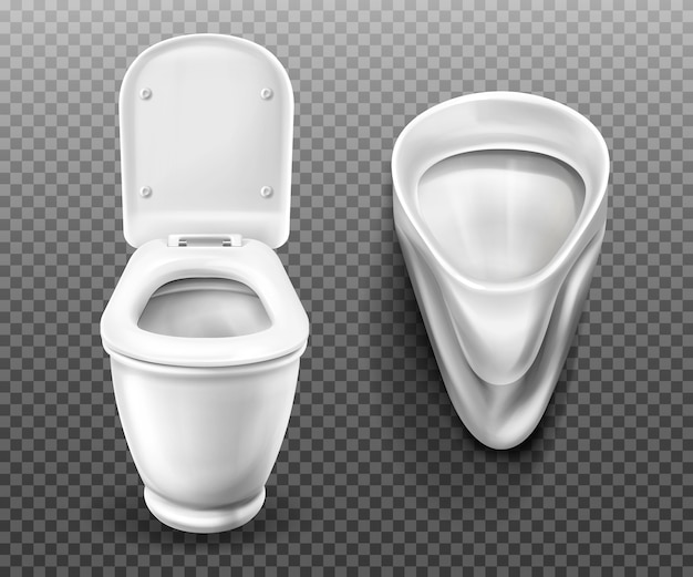 Toilet bowl and urinal for bathroom, restroom