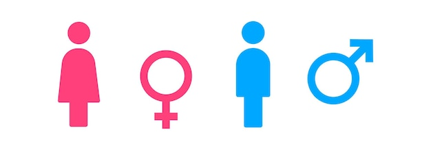 Toilet icon. male and female bathroom sign. vector eps 10. isolated on white background.