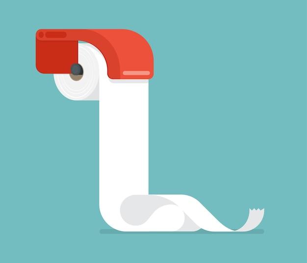 Плоский дизайн туалетной бумаги.