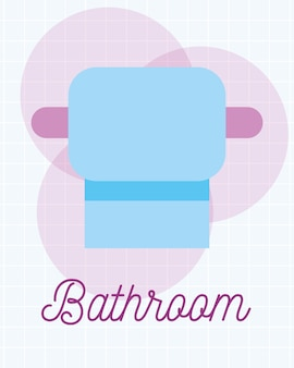 Toilet paper roll clean cartoon bathroom