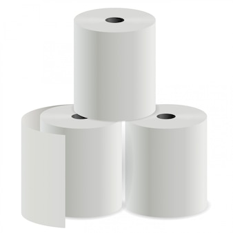 Toilet paper roll. thermal register print cylinder