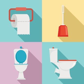 Toilet set, flat style