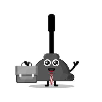 Toilet vacuum works cute character mascot