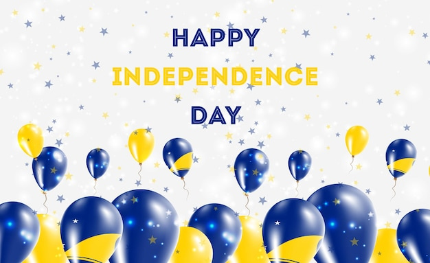 Патриотический дизайн дня независимости токелау. воздушные шары в национальных цветах токелау. поздравительная открытка вектора дня независимости сша.