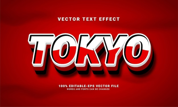 Tokyo 3d text effect, editable text style and suitable for celebrate asian events