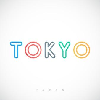 Токио столица типография надписи дизайн