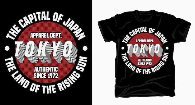 Tokyo the capital of japan typography design for t shirt print