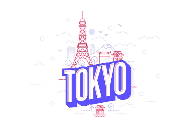 Tokyo city lettering