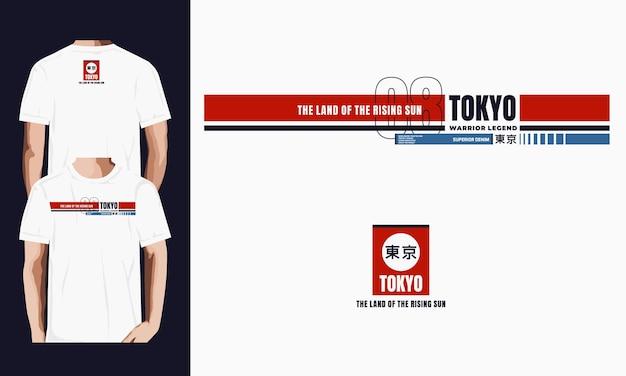 Токийский дизайн для футболки