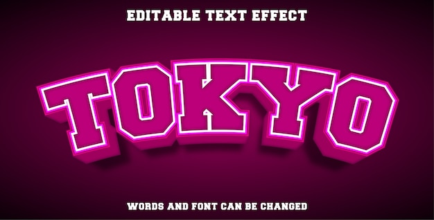 Tokyo editable text effect