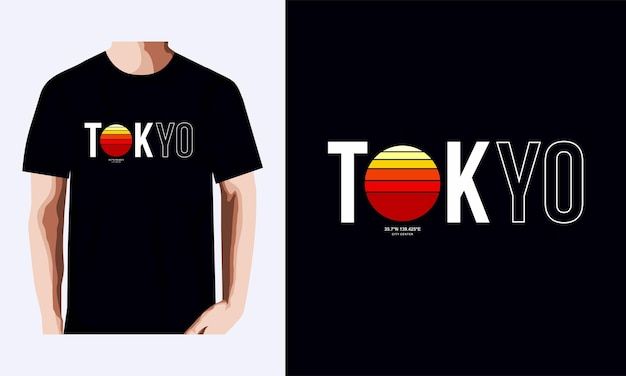 Футболка tokyo и дизайн одежды премиум